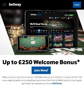 Live Blackjack mobile sign-up offer