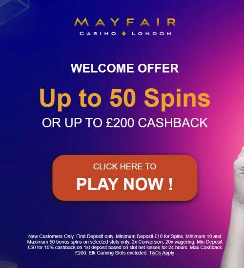 Mayfair casino bonus code
