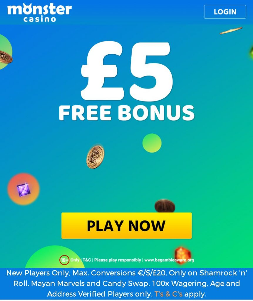 Monster Casino Bonus Code