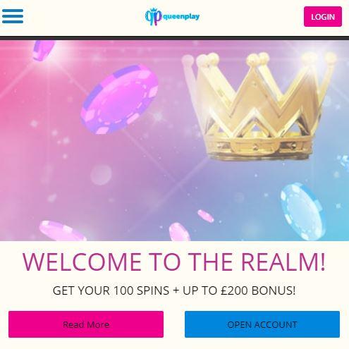 Queenplay Casino 100% deposit bonus