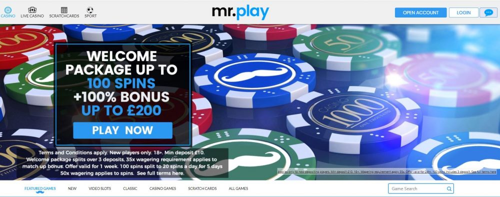 Mr Play casino welcome bonus