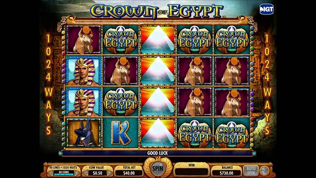 Crown of Egypt free spin scatter