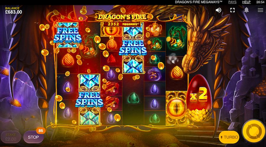 Dragon's Fore Megaways bonus game