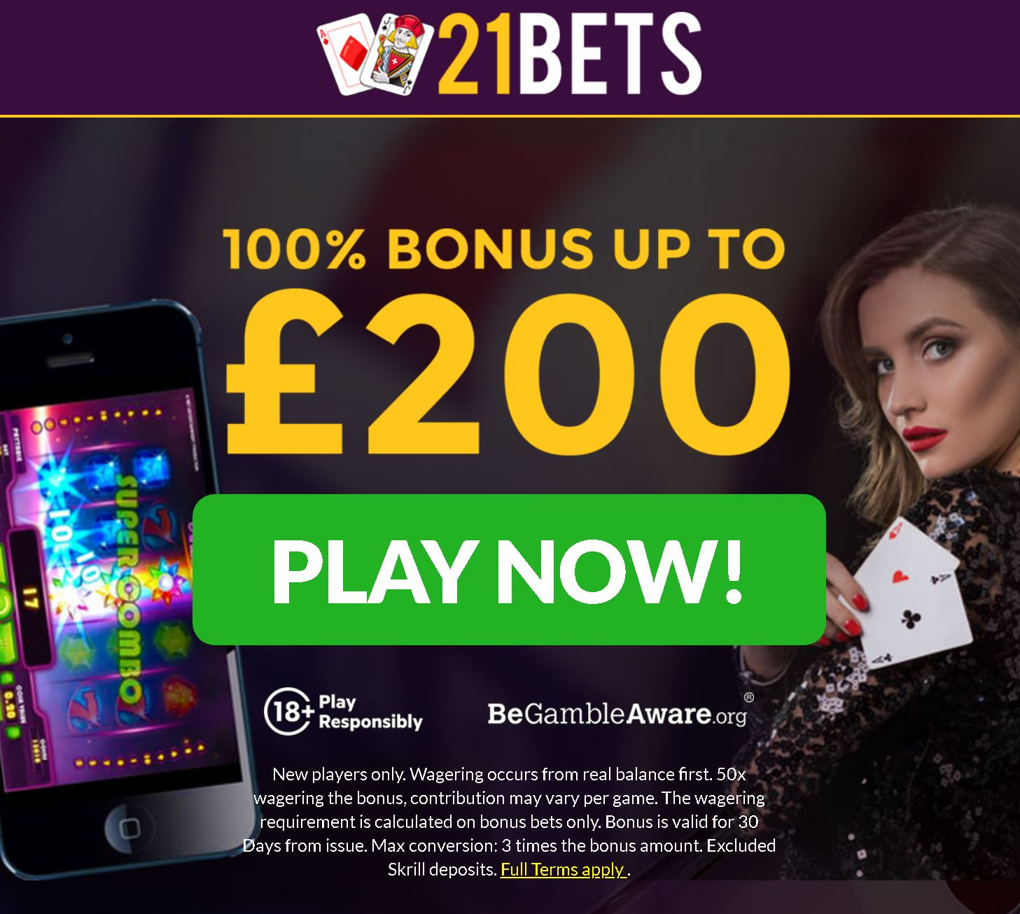 21Bets Casino welcome offer