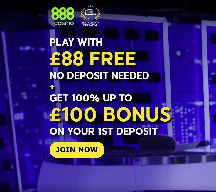 888Casino sign-up bonus