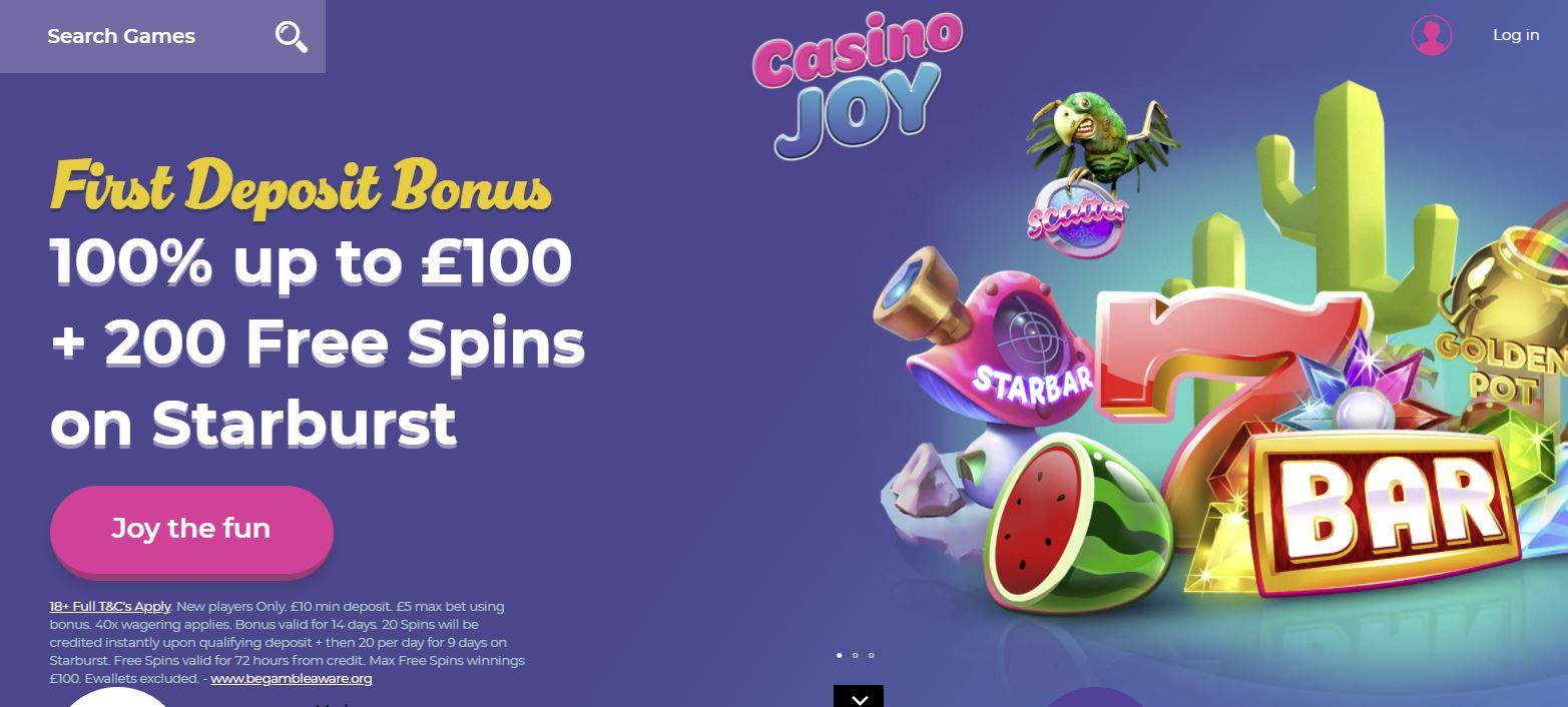 Casino Joy sign-up bonus