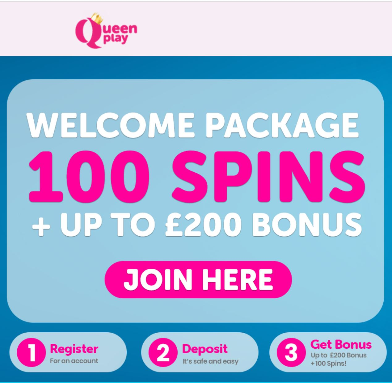 Queenplay new customer offer