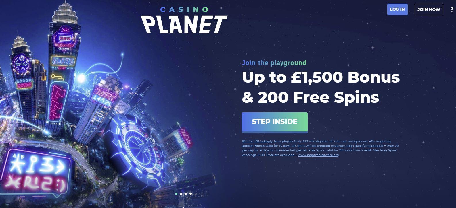 Casino Planet new customer offer