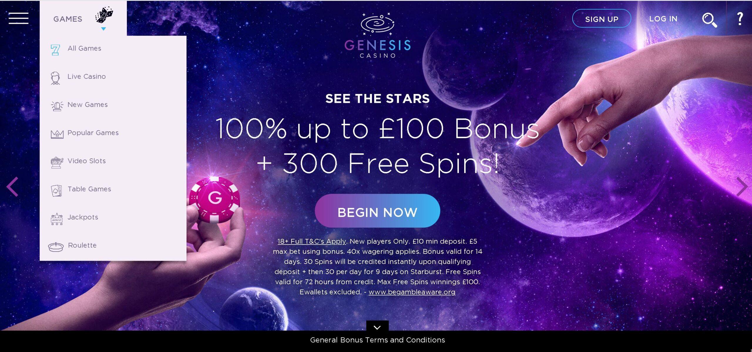 Genesis Casino bonus offer