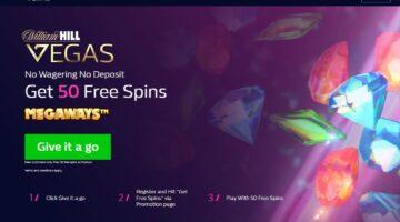 William Hill Vegas free spins no deposit